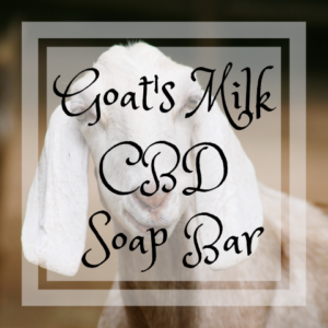 CBD Goat's Milk Soap Bar