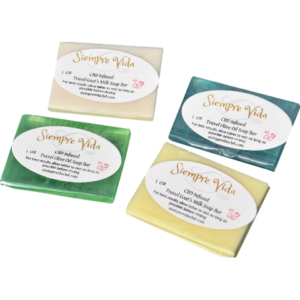 CBD bar soaps at 10mg CBD per bar