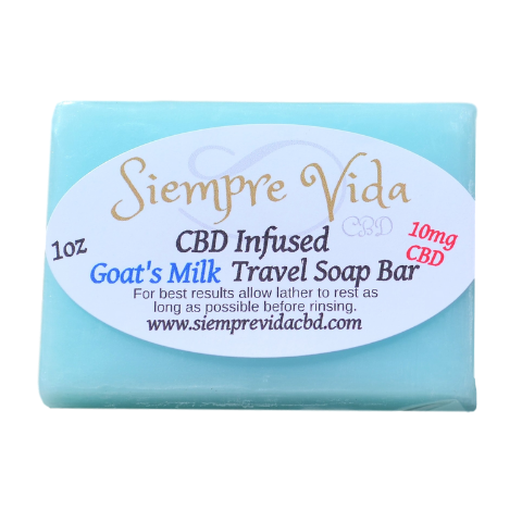 Siempre Vida CBD 10mg travel size soap in goats milk