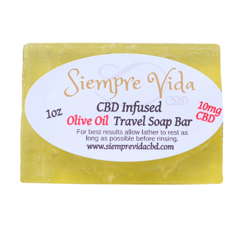 Siempre Vida cbd olive oil 10mg CBD soap bar lemongrass