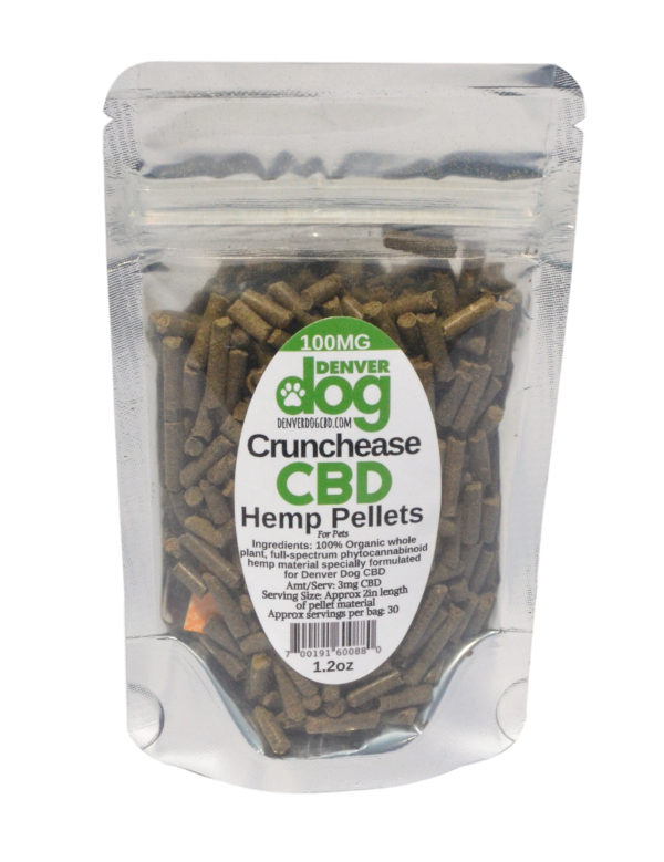 1.2 oz 100mg bag of Crunchease CBD